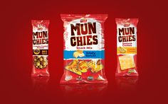 Munchies Snacks (FritoLay) on Behance Chips Brands, Brand Architecture, Snack Recipes, Snacks, Doritos, Cheddar Cheese, Crackers, Packaging Design, Sandwiches