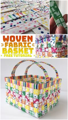 Learn to make your own Woven Fabric Basket - free tutorial - Easter sewing & craft