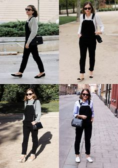 Exactly how I'll be doing them. Black Dungarees Outfit, Dungarees Outfits, Tokyo Street Fashion, Grunge Outfits, Fashion Outfits, Grunge Style, Soft Grunge, Le Happy, Outfit Sets