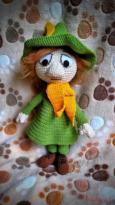 Crochet Snufkin Włóczykij by Szydełczaki Facebook Sign Up, Icecream, Free Pattern, Diy And Crafts, Crochet Patterns, Teddy Bear, Dolls, Knitting, Inspiration