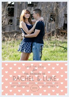 Save the Date Card - $13