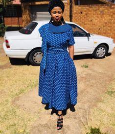 Modern Shweshwe Traditional Dresses Top Of Fashion 2020 - Styles Art Seshweshwe Dresses, African Dress, African Outfits, African Design, Dress Codes, Traditional Dresses, Fashion 2020, African Fashion, Ankara