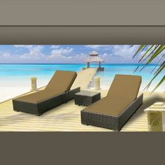Outdoor Patio Wicker Furniture 3 Pc Chaise Lounge « FavoDeals.com