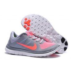 Nike Free 4.0 V4 Grau Rosa Rot Frauen