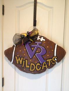 Villa Rica Wildcats burlap hanger