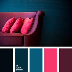 carmesí vivo, color azul verdoso, color cerceta, color del año cerceta, color vino, colores cerceta y frambuesa, frambuesa, paleta de colores para el diseño de interiores, rosado vivo, selección de colores para el diseño, turquesa, turquesa oscuro, verde azulado.