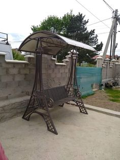 Wrought Iron Garden Furniture, Just Do It, Gazebo, Outdoor Structures, Patio, Metal, Outdoor Decor, House, Home Decor