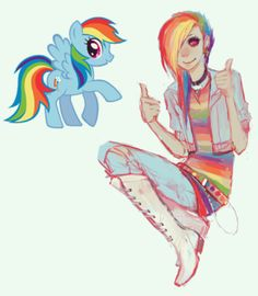I'm no brony, but I know enough to know that this is AMAZIIIING! My older sister is a complete brony and Dash is her favorite, so I know a good bit about the ponies! Absolutely fantastic fanart!