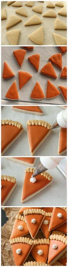Mini-Pumpkin Pie Cookies - Red Sky Food Good.