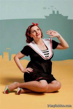 01ca0c73833c4 Beach Mom Maternity Dress: vintage / pin-up / rockabilly sailor maternity  wear by TiCCi Rockabilly Clothing