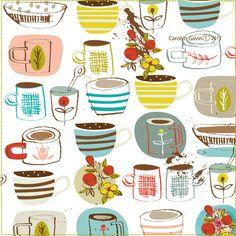 Carolyn Gavin - coffee cups