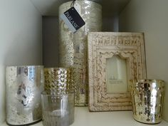 Candle holders and photo-frames from the Natural Bed Company Sheffield shop....