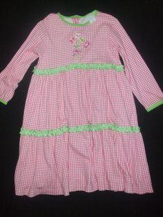 Chez Ami by Patsy Aiken Pink & Grenn Dress Girls Size 5 Chez Ami Pink & Green  #ChezAmi