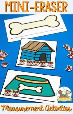 Mini Eraser Measurement Activities Nonstandard Measurement, Measurement Activities, Kids Learning Activities, Preschool Classroom, Preschool Ideas, Pre K Pages, Basic Math, Math Concepts, Little Learners
