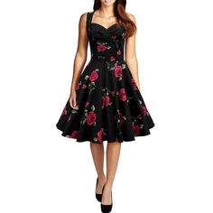 2015 Audrey Hepburn vintage print sleeveless Low-cut ball gown dress women prom party cocktail retro 50s dress