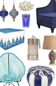 Sooth Your Senses With the Dreamy Blues and Vibrant Patterns of Eclectic Bo-Ho Décor