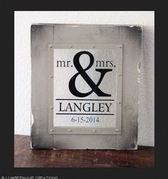 Mr & Mrs Sign Newlywed Sign Wedding Sign by LumberwaveCreations, $59.95