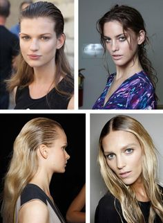2012 hair trends for long hair - shiny wet look hair
