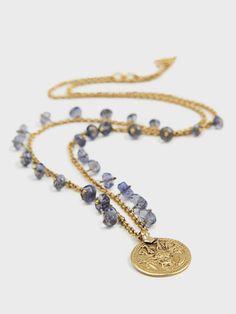 Topaz & Antique Pendant Necklace by Lena Skadegard | DARA Artisans