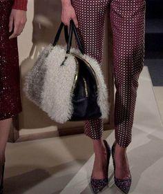Fur on a satchel - DIY inspiration from NYFW F2012