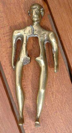 18th century Dutch brass nutcracker