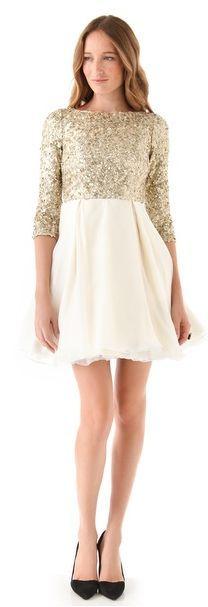 REVEL: Gold Sequin Dress