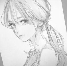 Art Drawings Sketches Simple, Pencil Art Drawings, Cute Drawings, Anime Art Girl, Manga Art, Anime Sketch, Cute Art, Art Reference Poses, Character Art