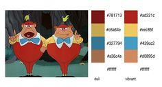 #color #palette #scheme Alice in Wonderland (Disney) - Pinco Panco & Panco Pinco