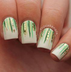 Diamond Nail Designs, Green Nail Designs, Nail Art Designs, Nails Design, St. Patricks Day, St Patricks Day Nails, Saint Patrick, St Patricks Nail Designs, Coffin Nails