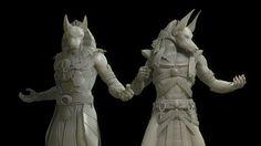 Anubis Sculpts by Michael Heath   Creatures   3D   CGSociety