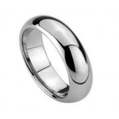 Men's Tungsten Carbide Wedding Band Dome High Polished Finish 5.5mm