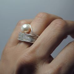 Oyster ring by Larissa Landinez