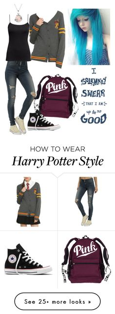 """harry potter tho"" by hunterscloset on Polyvore featuring H&M, Warner Bros., Converse and plus size clothing"