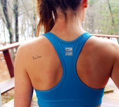 tattoo and running - i like the placement and simplicity -- think @Hillary Platt Bandley Platt Bandley Bennett would like this