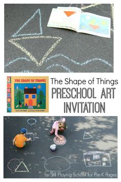 The Shape of Things Chalk Drawings. This fun, outdoor activity will make teaching and learning about shapes fun! Perfect for at home or in your preschool classroom! - Pre-K Pages