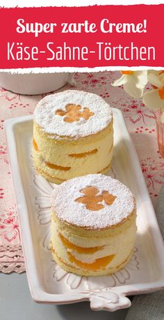 Fruity fresh cheese cream tarts with apricots - Kochrezepte - Kuchen Individual Desserts, Bite Size Desserts, Fancy Desserts, Holiday Desserts, Delicious Desserts, Smores Dessert, Trifle Desserts, Lemon Desserts, Dessert Bars