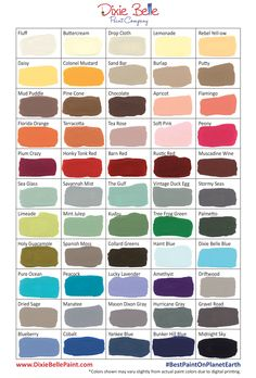 Dixie Belle Paint Company now has 55 awesome chalk mineral paint colors to choose from...not to mention all the colors you could make if you mixed them too!