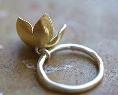 golden bell flower  ring