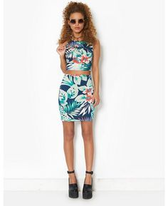 Motel Tropical Co-Ord Skirt | BANK Fashion
