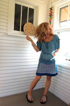 Eco Mini SKIRT  Upcycled Clothing repurposed recycled by zasra, $55.00