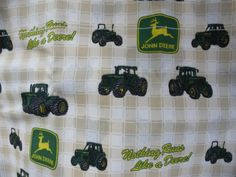 John Deere Window Curtains 1 Pair of Panels with Valance and Tie Backs…