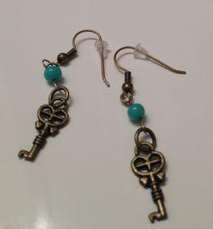 Bronze Key Earrings $7