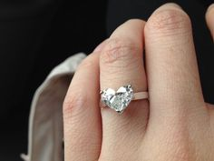 Heart shaped diamond engagement ring solitaire