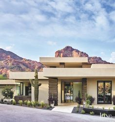 Mid-Century Modern / Contemporary Exterior Cladding in Black Cantera Stone. Arizona, Cladding Systems, Desert Homes, Contemporary Architecture, Contemporary Houses, Pavilion Architecture, Organic Architecture, Residential Architecture, Future House