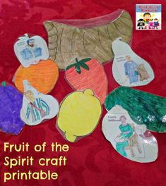 This Fruit of the Spirit craft is great for your Sunday School class or homeschool lesson. When they're all done the kids will understand the Fruit of the Spirit. Sunday School Curriculum, Sunday School Activities, Bible Activities, Preschool Curriculum, Sunday School Lessons, Preschool Themes, Preschool Classroom, Homeschooling, Teaching Kids