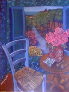 Vase des Fleurs, et Lettre...