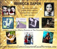 Would Your Significant Other Carry Your Across A Swamp Pit? http://RebeccaZapen.CreatingCalmNetwork.com Sit back and enjoy this musical conversation between Ann White, founder of the Creating Calm Network and singer, songwriter Rebecca Zapen about her family, her music and her inspirations. Rebecca is a talented, versatile musician with a butter cream voice - spanning many genres of music. You can find more of Rebecca at www.Zapen.com