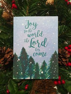 joy to the world the Lord has come.