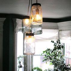 Como hacer lámparas con frascos de vidrio