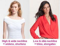 Necklines affect your body shape